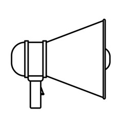 Monochrome silhouette of megaphone icon vector