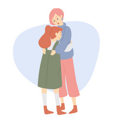 mother and daughter hugs happy family love vector image