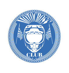 motorcycle club badge logo emblem template vector image