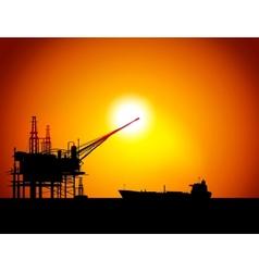 Oil sea station vector
