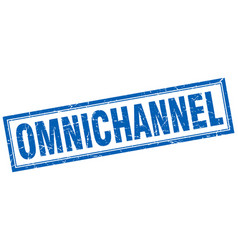 Omnichannel square stamp vector