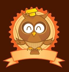 owl mascot vector image