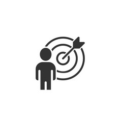 people target icon in flat style search human on vector image