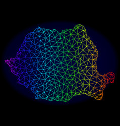 Polygonal network spectrum mesh map of vector
