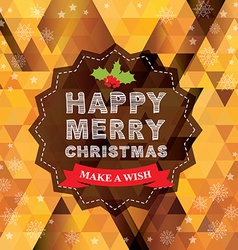 Poster Merry Christmas vector image