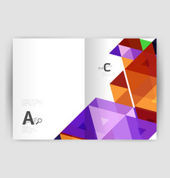 Print triangle modern print template vector