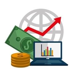 Profit icons design vector image