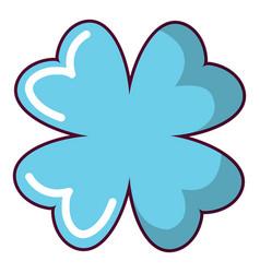 quatrefoil leaf icon cartoon style vector image
