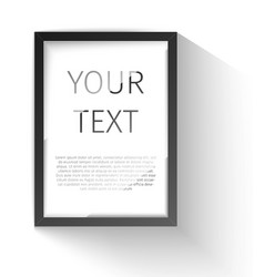 Realistic frame Perfect for your presentations vector image