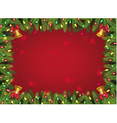 red and green christmas background - decorated vector image
