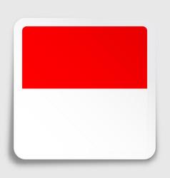 Republic indonesia flag icon on paper square vector