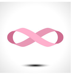 Ribbon in shape limitless infinity symbol vector