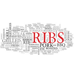 Ribs word cloud concept vector