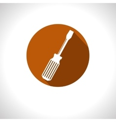 screwdriver icon Eps10 vector image