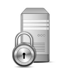 Secured server vector image