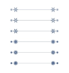 snowflakes divider design vector image