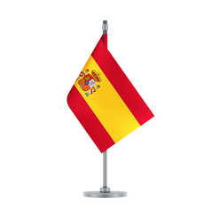 spanish flag hanging on the metallic pole vector image