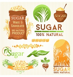 Sugar decorative elemnts vector image