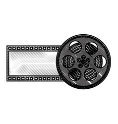 tape reel film icon vector image
