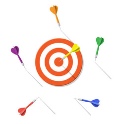 target with arrow in center goal setting vector image