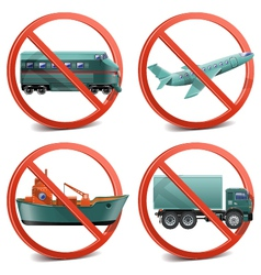 Transport with Prohibitory Sign vector image