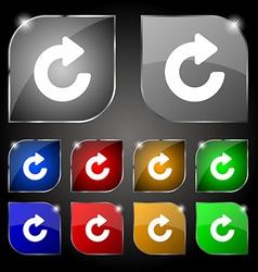 Upgrade arrow icon sign Set of ten colorful vector