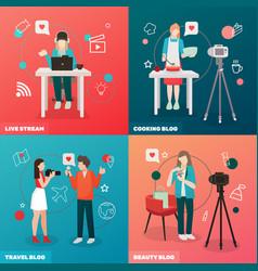 Video blogging design concept vector