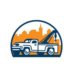 Vintage Tow Truck Wrecker Retro vector image
