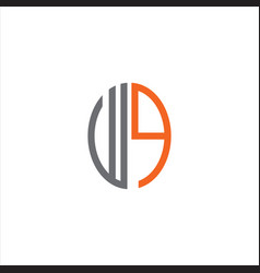 W q letter logo creative design on black color vector