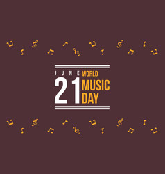 World music day celebration of background vector