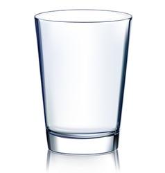 Empty glass vector