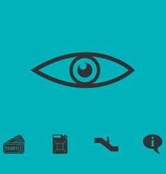 eye icon flat vector image