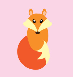 fox isolated vector image