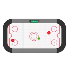 hockey air table game isolated entertainment vector image vector image