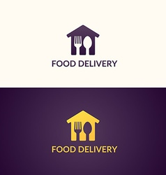Delivery of food home vector image vector image