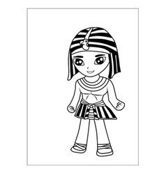 Egyptian men cartoon vector image vector image