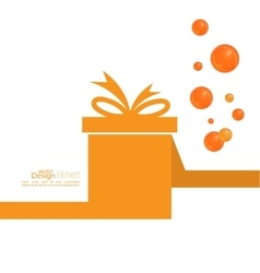 Gift box with ribbon and bow vector image vector image