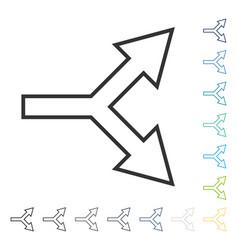 Junction arrow right icon vector