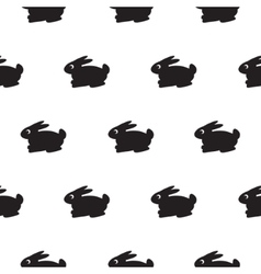 Rabbit black and white kid pattern vector image vector image