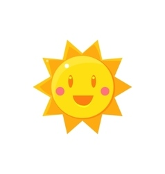 Simple Yellow Sun Drawing vector image vector image