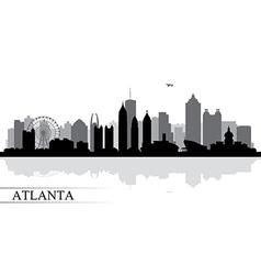 Atlanta city skyline silhouette background vector image