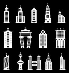 Building set 2 - White vector image