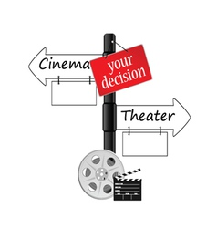 cinema or theater icon vector image vector image