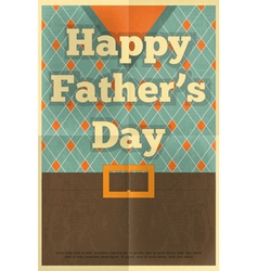 fathers day poster waistcoat vector image