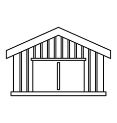 Garage icon outline style vector image