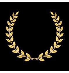 Gold laurel wreath 3 vector