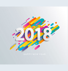new year 2018 design card on modern background vector image