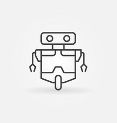 robot outline concept icon or design vector image vector image