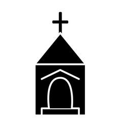 small church icon sign o vector image