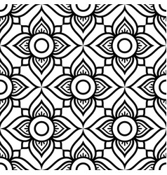 thai flowers seamless pattern vector image vector image